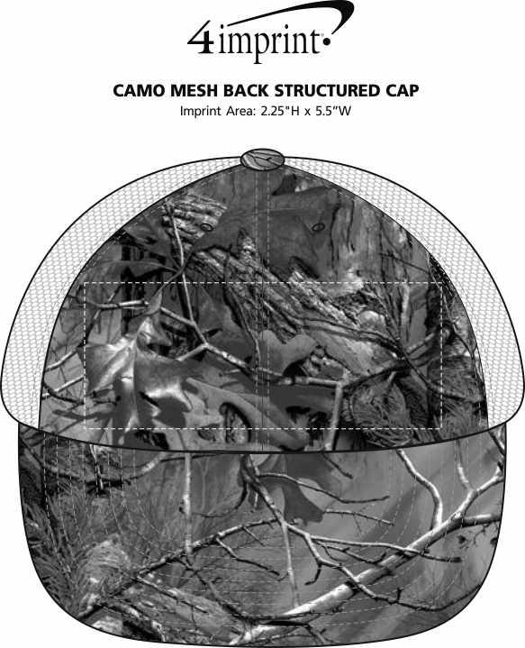 Imprint Area of Camo Mesh Back Structured Cap