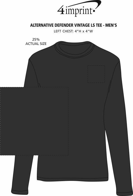 Imprint Area of Alternative Defender Vintage LS Tee - Men's