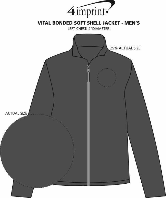 Imprint Area of Vital Bonded Soft Shell Jacket - Men's