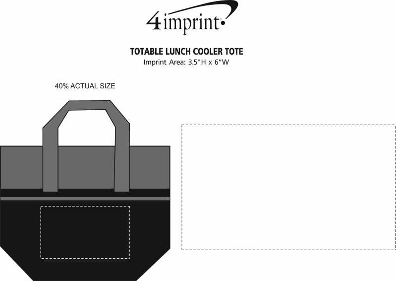 Imprint Area of Totable Lunch Cooler Tote