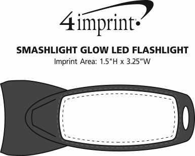 Imprint Area of SmashLight Glow LED Flashlight