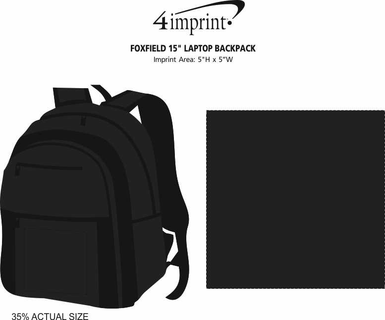 """Imprint Area of Foxfield 15"""" Laptop Backpack"""