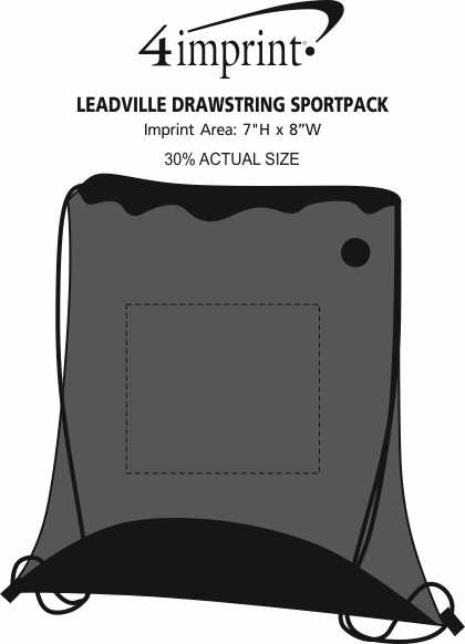 Imprint Area of Leadville Drawstring Sportpack