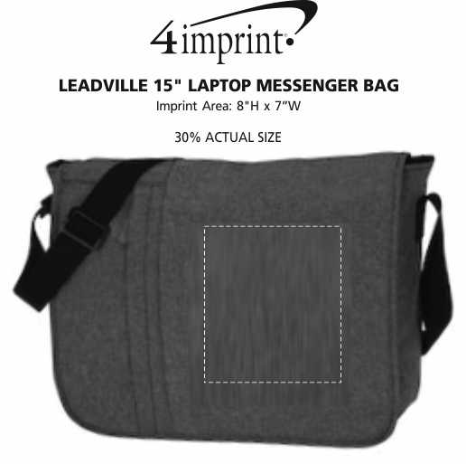 "Imprint Area of Leadville 15"" Laptop Messenger Bag"