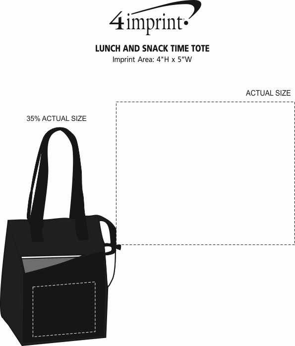 Imprint Area of Lunch and Snack Time Cooler