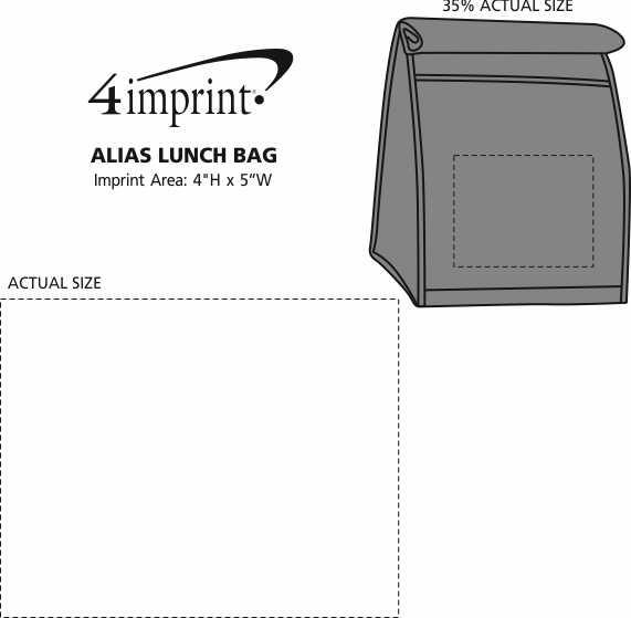 Imprint Area of Alias Lunch Bag