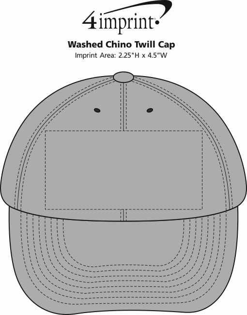 Imprint Area of Washed Chino Twill Cap