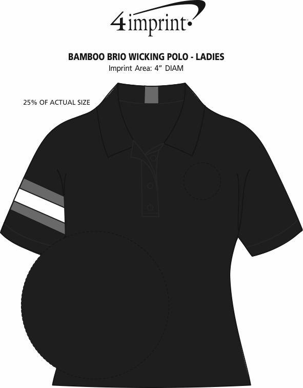 Imprint Area of Bamboo Brio Wicking Polo - Ladies'