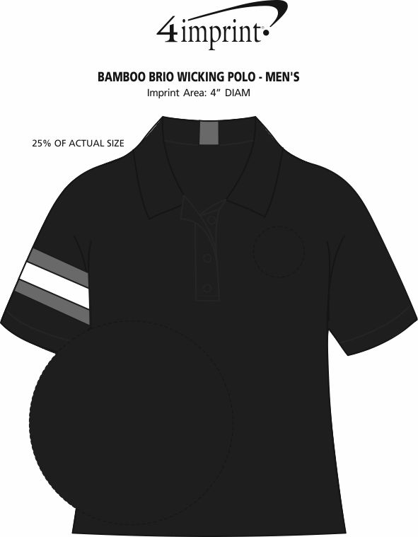 Imprint Area of Bamboo Brio Wicking Polo - Men's