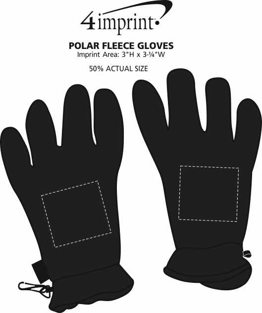 Imprint Area of Polar Fleece Gloves