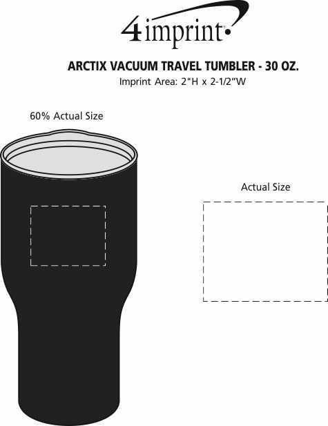 Imprint Area of Urban Peak Vacuum Travel Tumbler - 30 oz.