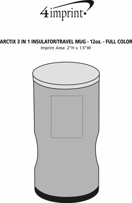 Imprint Area of Urban Peak 3-in-1 Insulator/Travel Tumbler - 12 oz. - Full Color