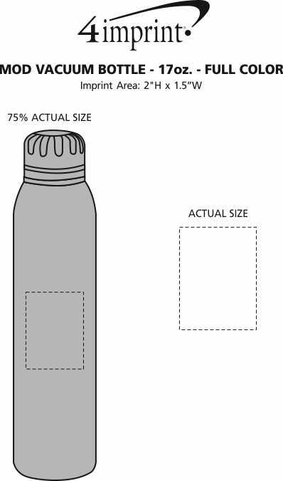 Imprint Area of MOD Vacuum Bottle - 17 oz. - Full Color
