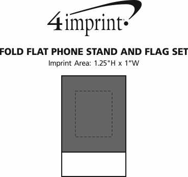 Imprint Area of Fold Flat Phone Stand and Flag Set