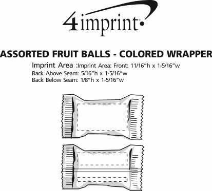 Imprint Area of Assorted Fruit Balls - Color Wrapper