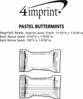 Imprint Area of Pastel Buttermints