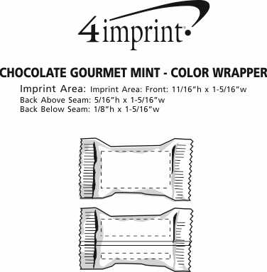 Imprint Area of Chocolate Gourmet Mint - Color Wrapper