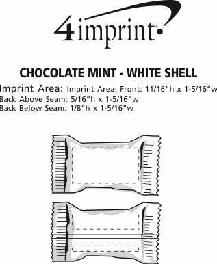 Imprint Area of Chocolate Mint - White Shell
