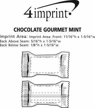 Imprint Area of Chocolate Gourmet Mint