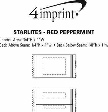 Imprint Area of Starlites - Red Peppermint