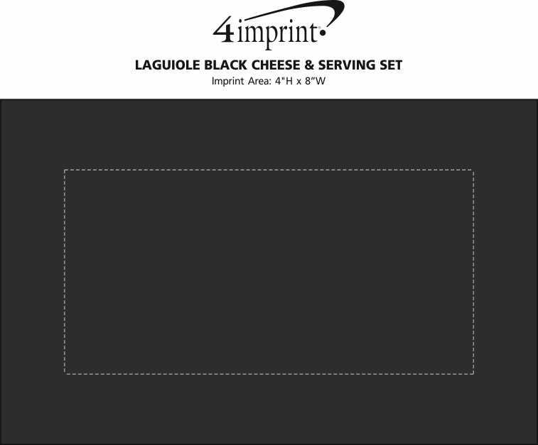 Imprint Area of Laguiole Black Cheese & Serving Set