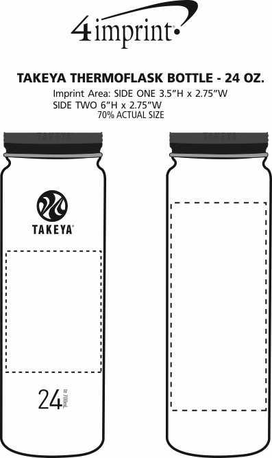 Imprint Area of Takeya Thermoflask Vacuum Bottle - 24 oz.