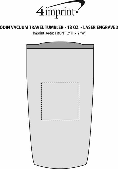 Imprint Area of Odin Vacuum Travel Tumbler - 18 oz. - Laser Engraved