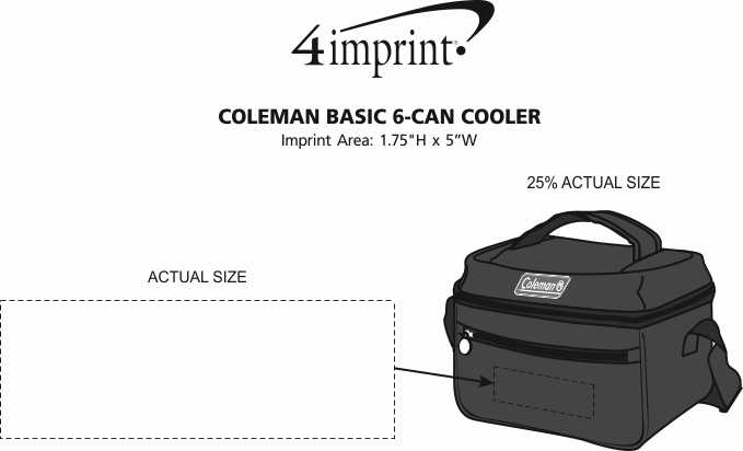 Imprint Area of Coleman Basic 6-Can Cooler