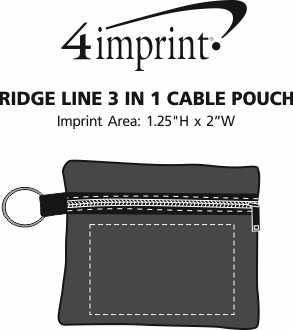 Imprint Area of Ridge Line 3-in-1 Cable Pouch