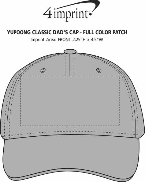 Imprint Area of Yupoong Classic Dad's Cap - Full Color Patch