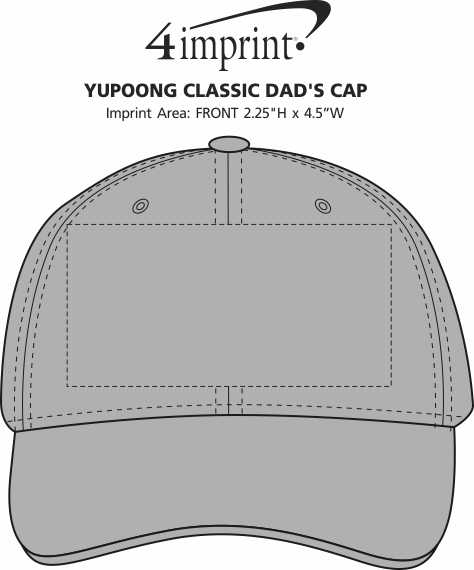 Imprint Area of Yupoong Classic Dad's Cap