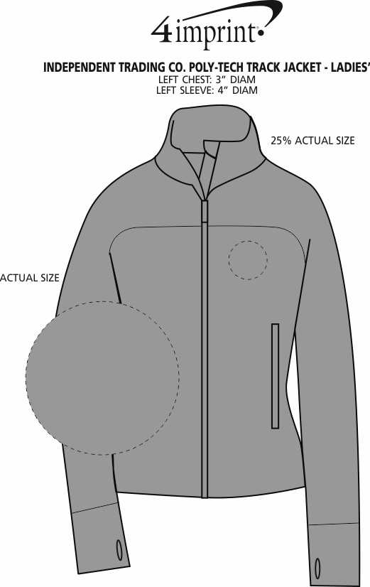 Imprint Area of Independent Trading Co. Poly-Tech Track Jacket - Ladies'