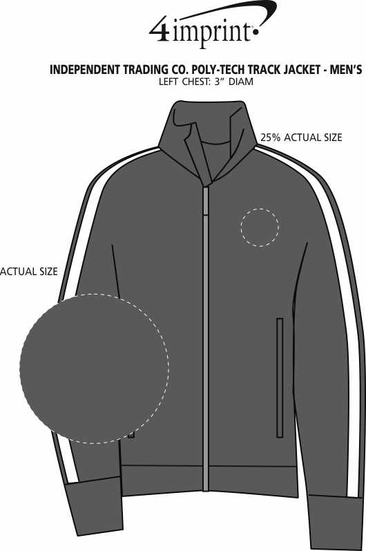 Imprint Area of Independent Trading Co. Poly-Tech Track Jacket - Men's