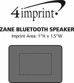 Imprint Area of Zane Bluetooth Speaker