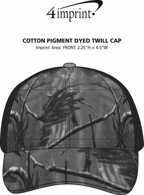 Imprint Area of Kati Camo Mesh Back Cap