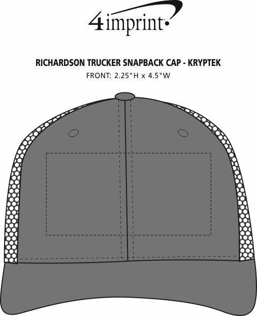 Imprint Area of Richardson Trucker Snapback Cap - Kryptek
