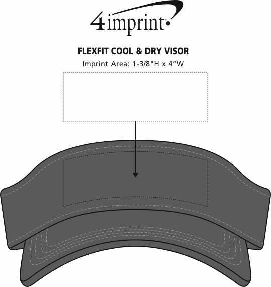 Imprint Area of Flexfit Cool & Dry Visor