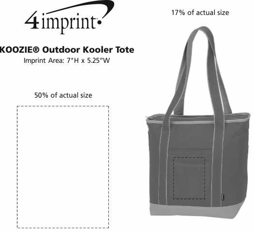 Imprint Area of Koozie® Outdoor Kooler Tote