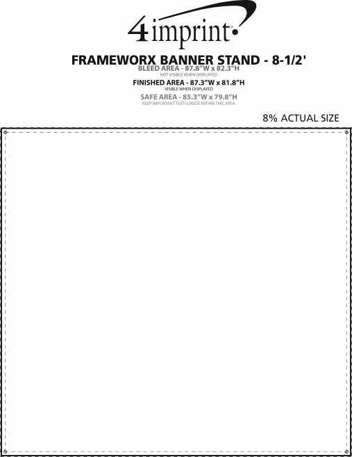 Imprint Area of FrameWorx Banner Stand - 8-1/2'
