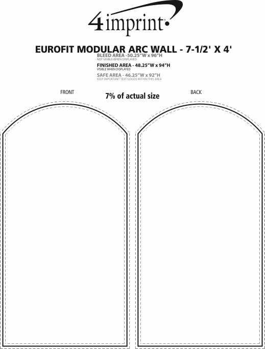 Imprint Area of EuroFit Modular Arc Wall - 7-1/2' x 4'