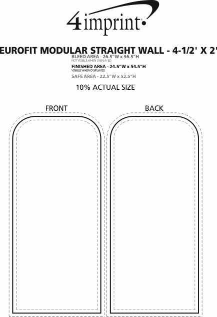 Imprint Area of EuroFit Modular Straight Wall - 4-1/2' x 2'