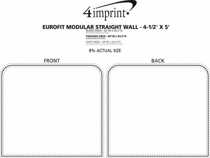 Imprint Area of EuroFit Modular Straight Wall - 4-1/2' x 5'