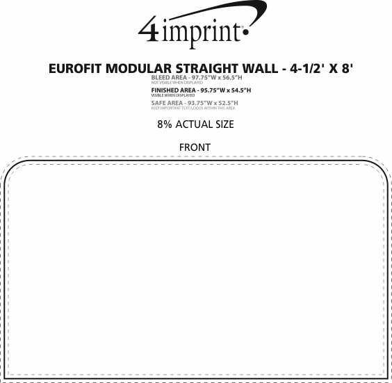 Imprint Area of EuroFit Modular Straight Wall - 4-1/2' x 8'