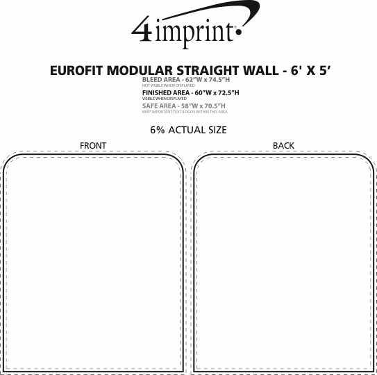 Imprint Area of EuroFit Modular Straight Wall - 6' x 5'