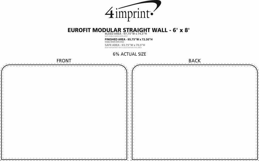 Imprint Area of EuroFit Modular Straight Wall - 6' x 8'