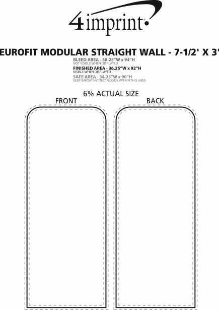 Imprint Area of EuroFit Modular Straight Wall - 7-1/2' x 3'
