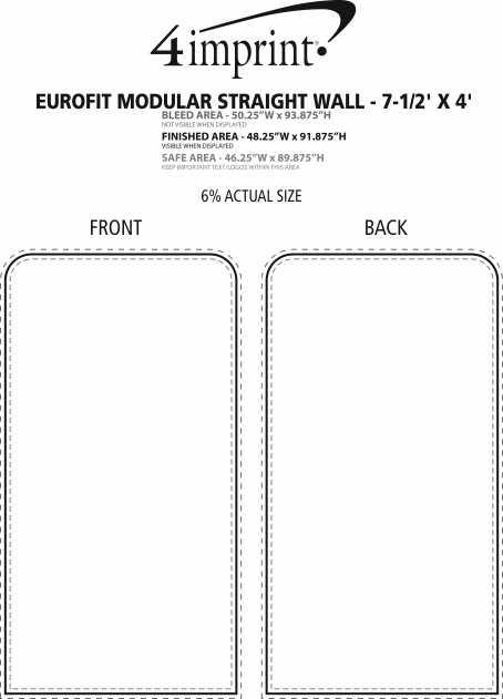 Imprint Area of EuroFit Modular Straight Wall - 7-1/2' x 4'