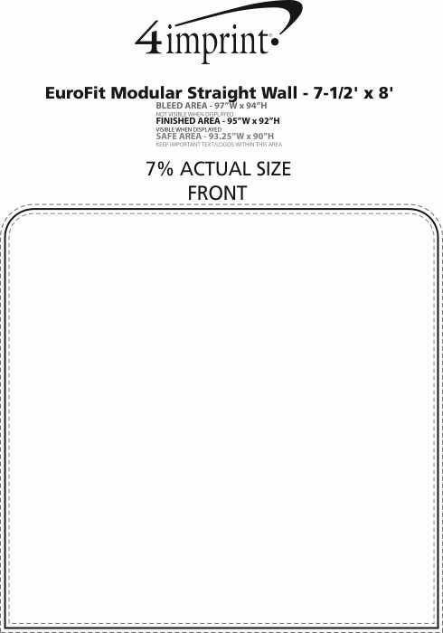 Imprint Area of EuroFit Modular Straight Wall - 7-1/2' x 8'