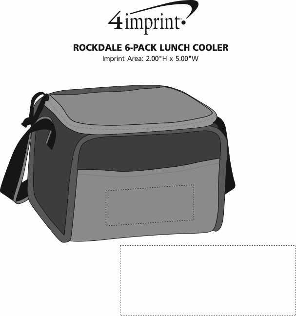Imprint Area of Rockdale 6-Pack Lunch Cooler