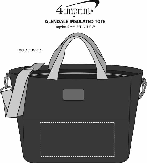 Imprint Area of Glendale Insulated Tote